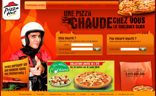 Pizza Hut Joomla