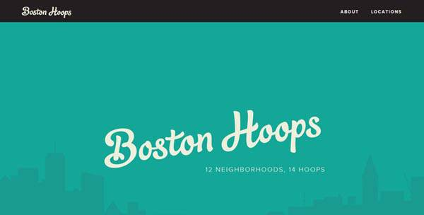15 impressive promotional websites bostonhoops 20 Impressive Promotional Website Designs