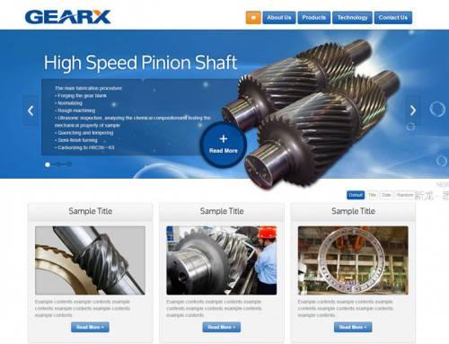 突出产品品质机械行业响应式外贸网站设计