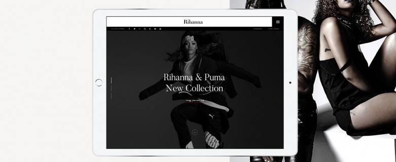 蕾哈娜Rihanna官网设计欣赏-高转化率网站咨询设计公司新龙转载