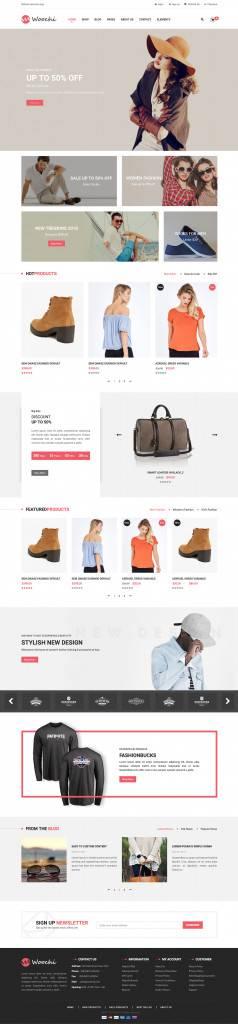 服饰商城网站/购物车网页设计