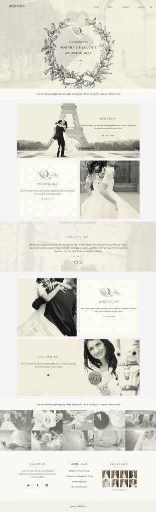 婚礼网页设计