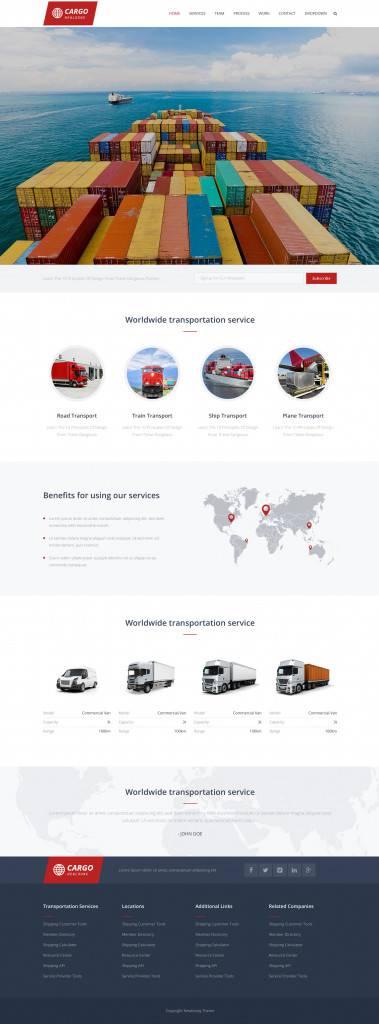 交通物流行业网页设计