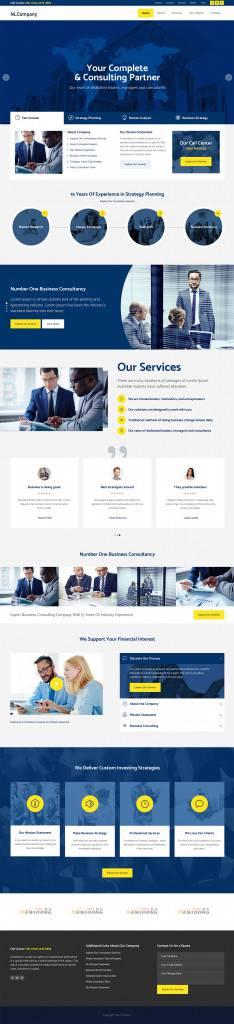 稳重的蓝色风格公司集团网页设计