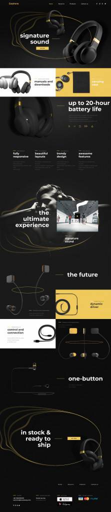 耳机产品网页设计