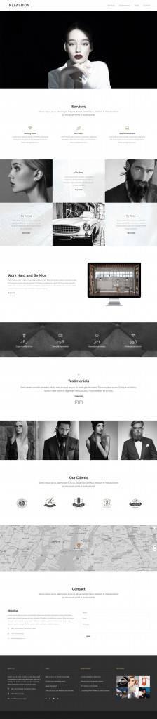 时尚行业黑白风格网页设计