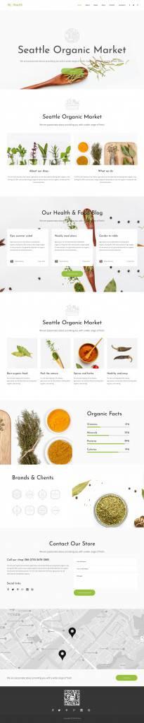 健康养生网页设计/网站设计