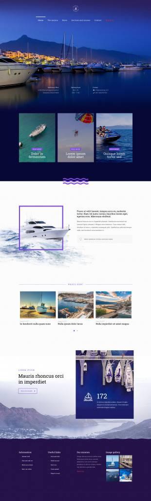 深蓝色海上运动网页设计欣赏