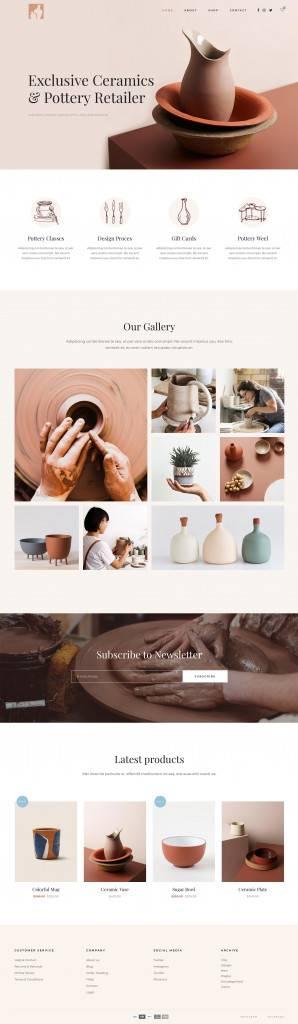 陶艺工作室网页设计欣赏