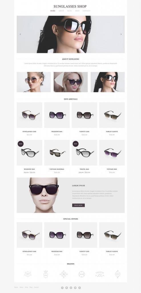 专业太阳镜售卖站网页设计