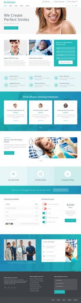 牙医诊所网页设计