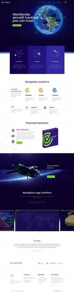 蓝绿搭配软件行业网页设计